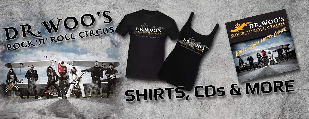 2cde26a061 Alles für den Fan von Dr. Woo: WOOSHOP - Der Online Shop für Merchandise  von Dr. Woo's Rock 'n' Roll Circus